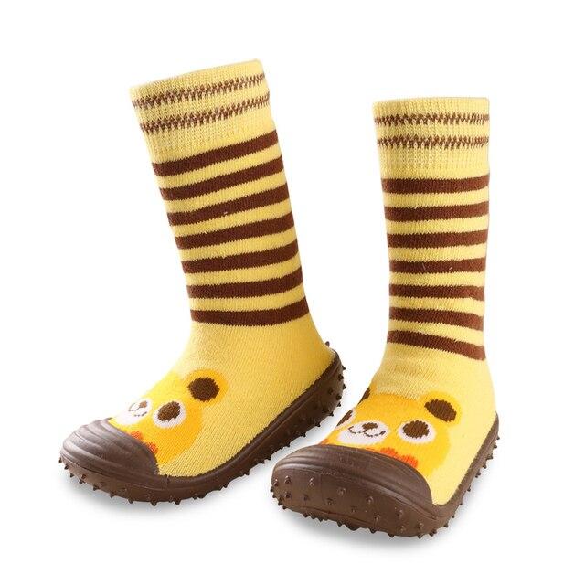 b18419af2 Calcetines del Piso antideslizantes Para Niños Y Niñas de Bebé de Algodón  Zapatos de Suela De