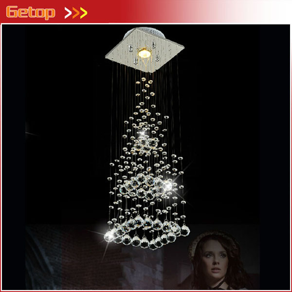 Best Price Creative Pyramid Crystal Light Bedroom Restaurant Lamp LED Hanging Wire Crystal Lamp Ceiling Lights Free Shipping free shipping mc9s12c64 mc9s12c64cfae 9s12c64 48 lqfp hcs12 100% new page 6