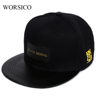 Womens Hip Hop Baseball Cap Black Snapback Caps 2017 New Fashion Flat Brimmed Baseball Cap Hats