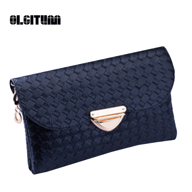 OLGITUM Women Messenger Bag Cross Body Bag Tote Women Clutches Bags Versatile Ms. Fashion Casual Knit Pattern Small Bag F485
