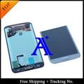 Envío libre 100% probado original para samsung galaxy s5 g900 g900f lcd digitalizador asamblea con el botón home + adhesivo