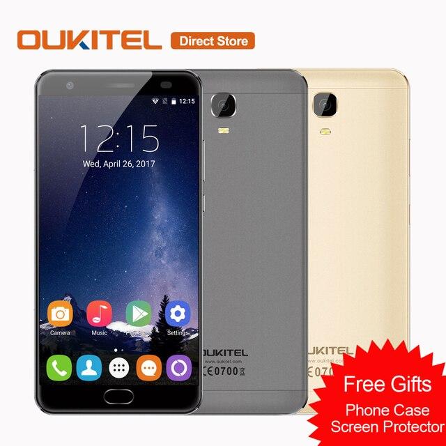 Оригинал K6000 OUKITEL Плюс 4 Г Мобильный Телефон Android 7.0 6080 мАч MTK6750T Окта основные 4 ГБ + 64 ГБ 12 В/2A 5.5 ''Отпечатков Пальцев Смартфон