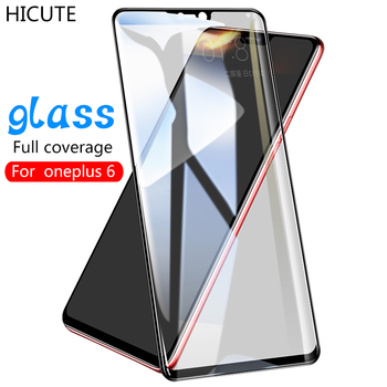 HICUTE 2.5D 9H HD oneplus 6 glass full coverage glass for oneplus 6 tempered glass for oneplus 6 screen protector glass film