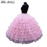 Fashion 9 layers Pink lace ball gown petticoat Diameter Underwear Crinoline Wedding Accessory Underskirt For Wedding Gown