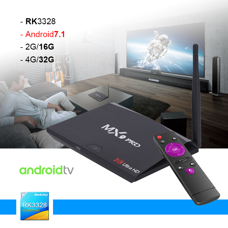 Big SALE MX9 Pro 4GB RAM 32GB ROM Android 7 1 TV Box RK3328 Quad
