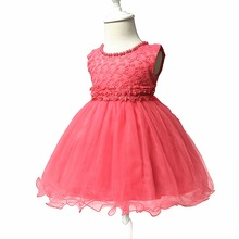 Free Shipping Cotton Lining Lace Infant Dresses 2019 New Style Baby Dress For 1 Year Girl Birthday Formal Toddler Princess Gowns
