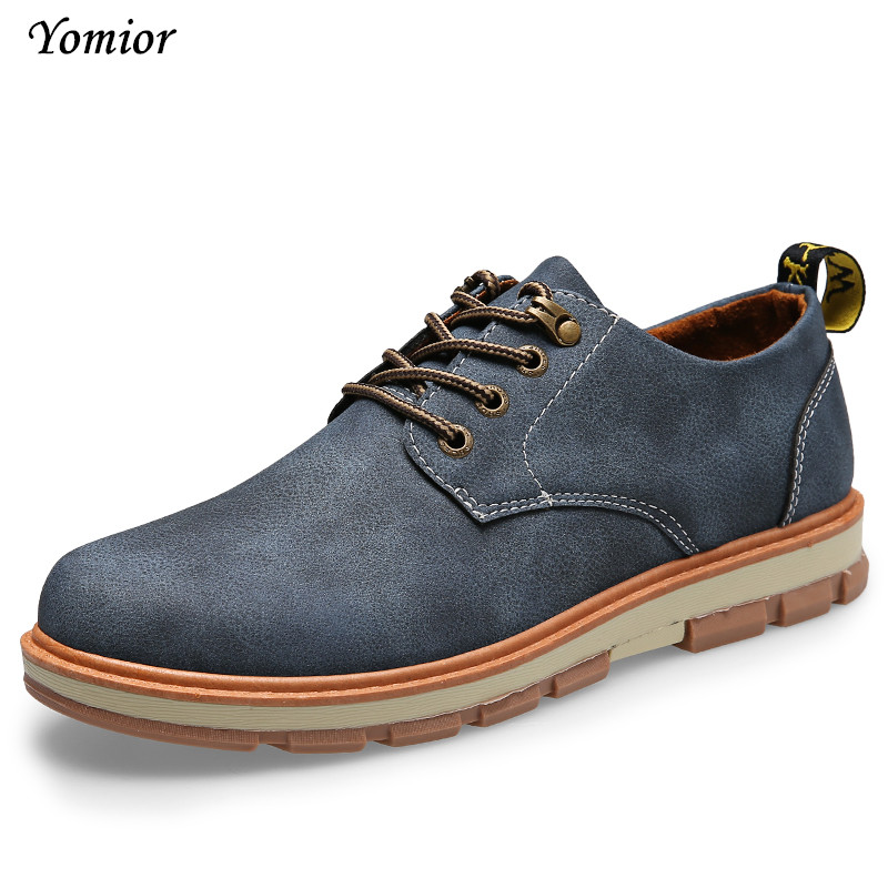 Yomior font b Mens b font font b Shoes b font England Autumn Winter Warm Cow
