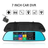 KKMOON 7 Car DVR 3G Wifi Rearview Mirror Dual Lens Recorder Camera Full HD 1080P Dash