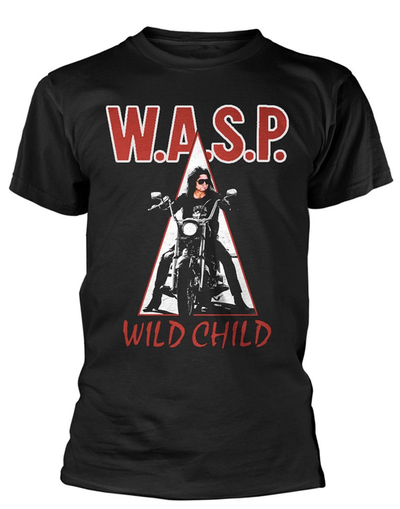 Cotton Men t-shirt WASP  Wild Child  T-SHIRT - NUOVO E ORIGINALE Printed t shirt Men t shirt Casual Tops