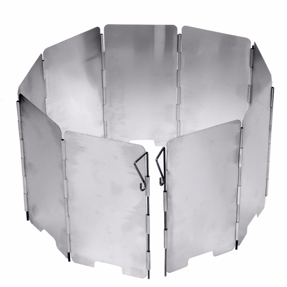 Strong Durable 9 Plate Foldable Stove Wind Shield Outdoor Camping Cooking Gas Stove Wind Screen Windshield Outdoor Camping Tool Strong Durable 9 Plate Foldable Stove Wind Shield Outdoor Camping Cooking Gas Stove Wind Screen Windshield Outdoor Camping Tool