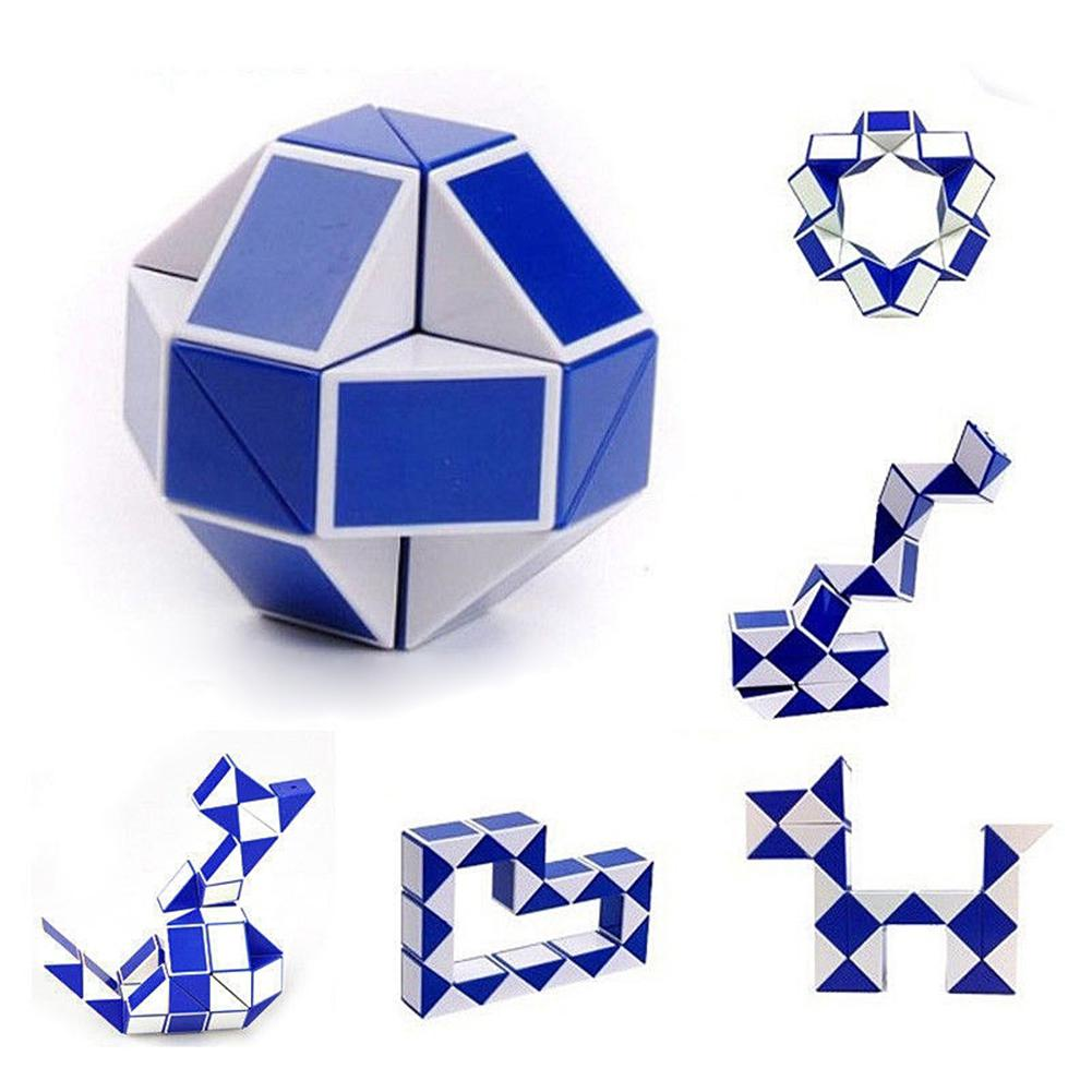 Snake Magic Ruler Puzzle, Twisty Toy Collection, Brain Teaser Toys, Color Random Folding Educational Toy For Kids Magic Cube