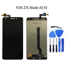 الأصلي ل ZTE بليد A570 T617 A813 شاشة الكريستال السائل محول الأرقام بشاشة تعمل بلمس استبدال ل ZTE بليد أ 570 إصلاح لوحة اللمس عدة
