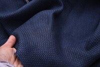 Super high quality Japanese Hokkaido flax navy blue jacquard flax 1.4 m wide 55 yuan linen cloth