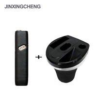 JINXINGCHENG Portable Car Charger for Iqos 3 Multi and Leather Case for Iqos Multi 3.0 Cases Cover Pouch Bag Holder Box 4 Colors