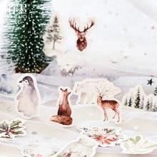 46 Pcs/box Ice snow forest paper sticker DIY decoration stickers diary photo album scrapbooking planner label