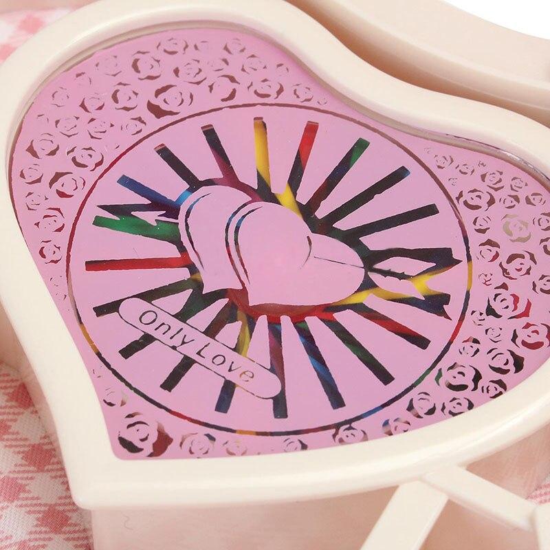 Mayitr Heart Shaped Music Boxes Jewellery Music Box Ballerina Dancer Christmas Gift DIY Decoration Random Color