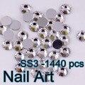 Pequeño Tamaño 1440 unids SS3 Crystal Rhinestones Del Arte Del Clavo Con la Máxima Calidad Para Uñas DIY Arte Del Teléfono Celular Y de La Boda decoración