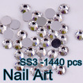 Small Size 1440pcs SS3 Crystal Nail Art Rhinestones With Top Quality For DIY Nails Art Cell Phone And Wedding Decoration