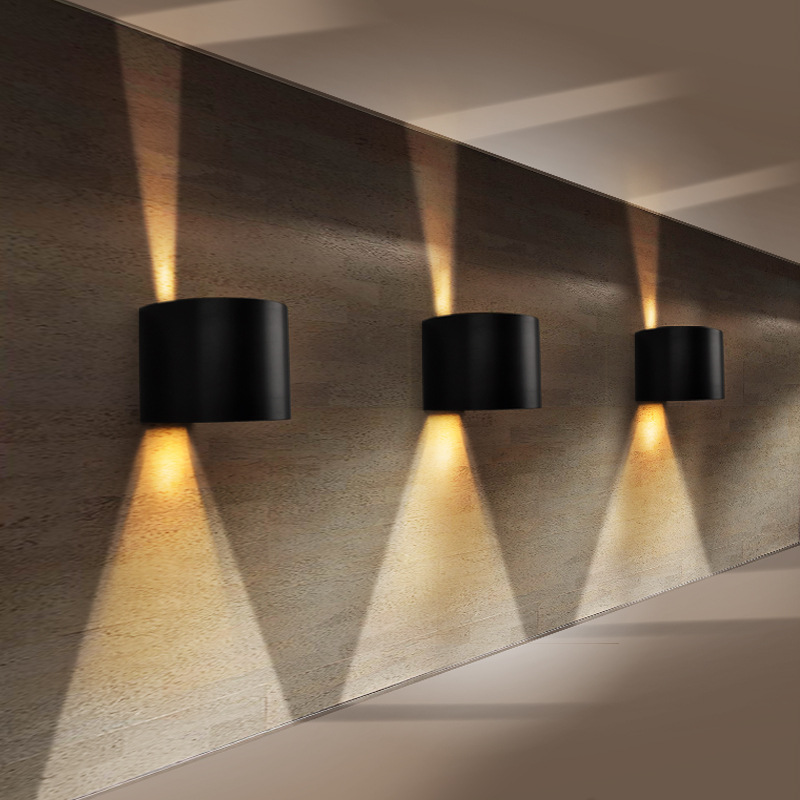 semi circular shape led wall sconce adjustable lighting ip65 waterproof 90 260v 6w 135 100mm. Black Bedroom Furniture Sets. Home Design Ideas