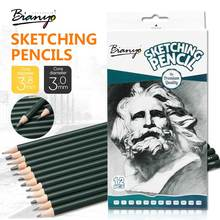 Bianyo 12 Pcs Sketch Pencils Different Hardness 2H-12B Drawing Pencil Set For School