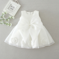 Sun Moon Kids 1 Year Birthday Dress Fashion Baby Girl Christening Gowns White Baby Girl Clothes
