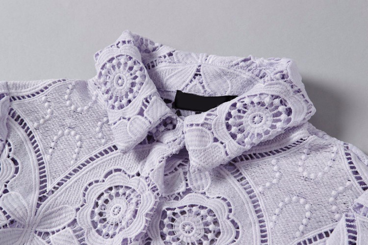 Soluble Flowers Lace Jacket with Skirt Suit Heavy Beading Runway Fashion Women Suit  (18)