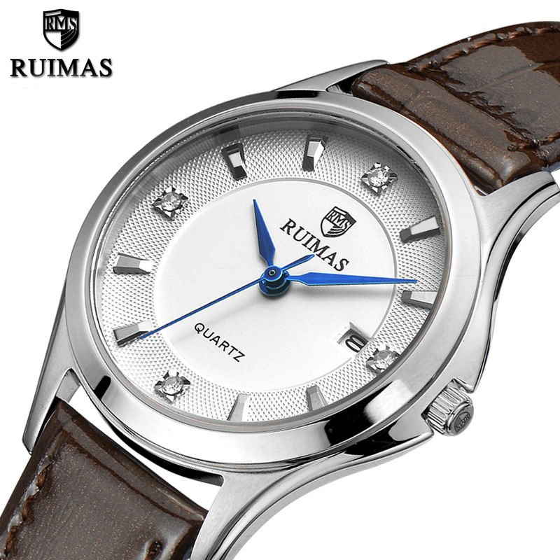 RUIMAS Quartz Women Watches 2018 Top Brand Luxury Ladies Watch Clock Relogio Feminino Lover Girls Wrist Watch with Leather Strap relogio feminino sinobi watches women fashion leather strap japan quartz wrist watch for women ladies luxury brand wristwatch