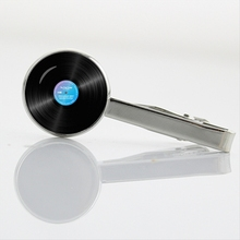 Great vinyl record tie clip