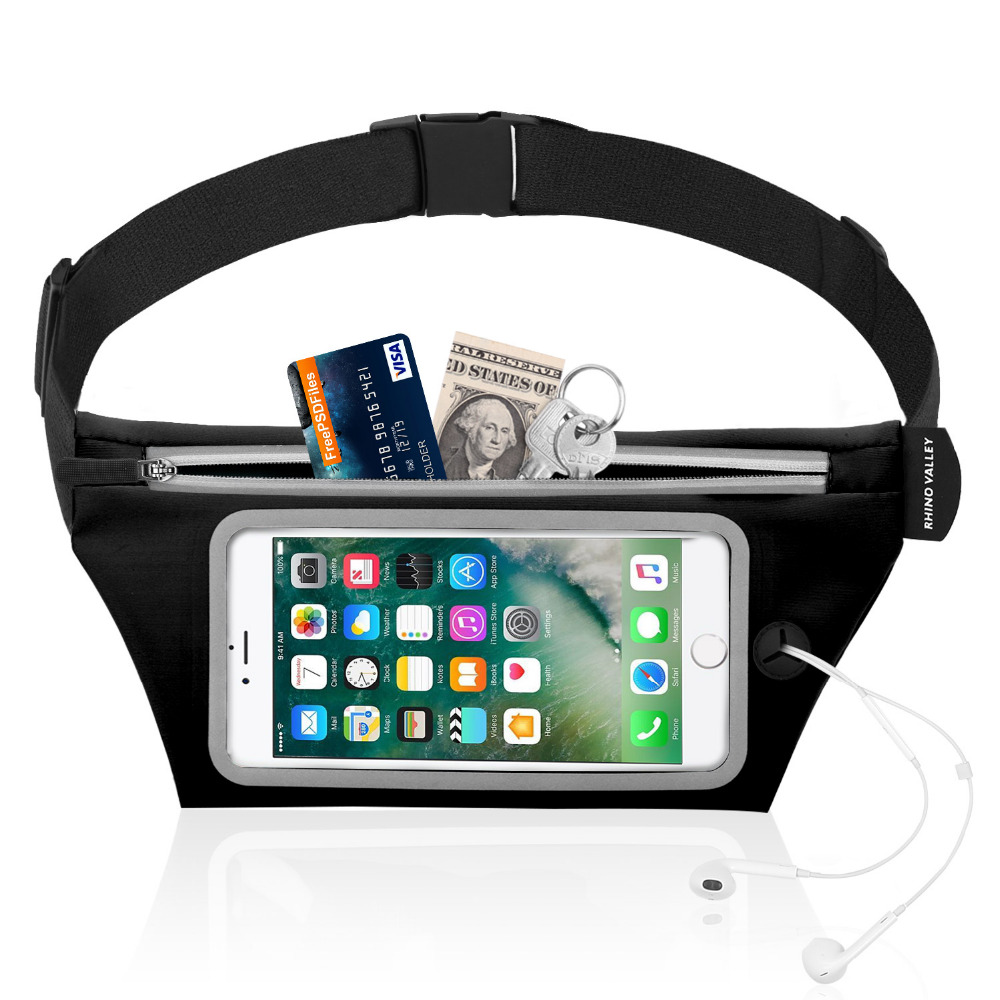 Running Belt Waist Pack Bag,Slim Sports Travel Belt,Waterproof Exercise Waist Pouch With Touch Screen Window For 6.3 Inch Phone