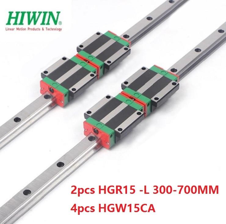 2pcs original Taiwan Hiwin linear rail guide HGR15 -L 300mm/350mm/400mm/500mm + 4pcs HGW15CA ( HGW15CC ) linear carriage blocks 2pcs original Taiwan Hiwin linear rail guide HGR15 -L 300mm/350mm/400mm/500mm + 4pcs HGW15CA ( HGW15CC ) linear carriage blocks
