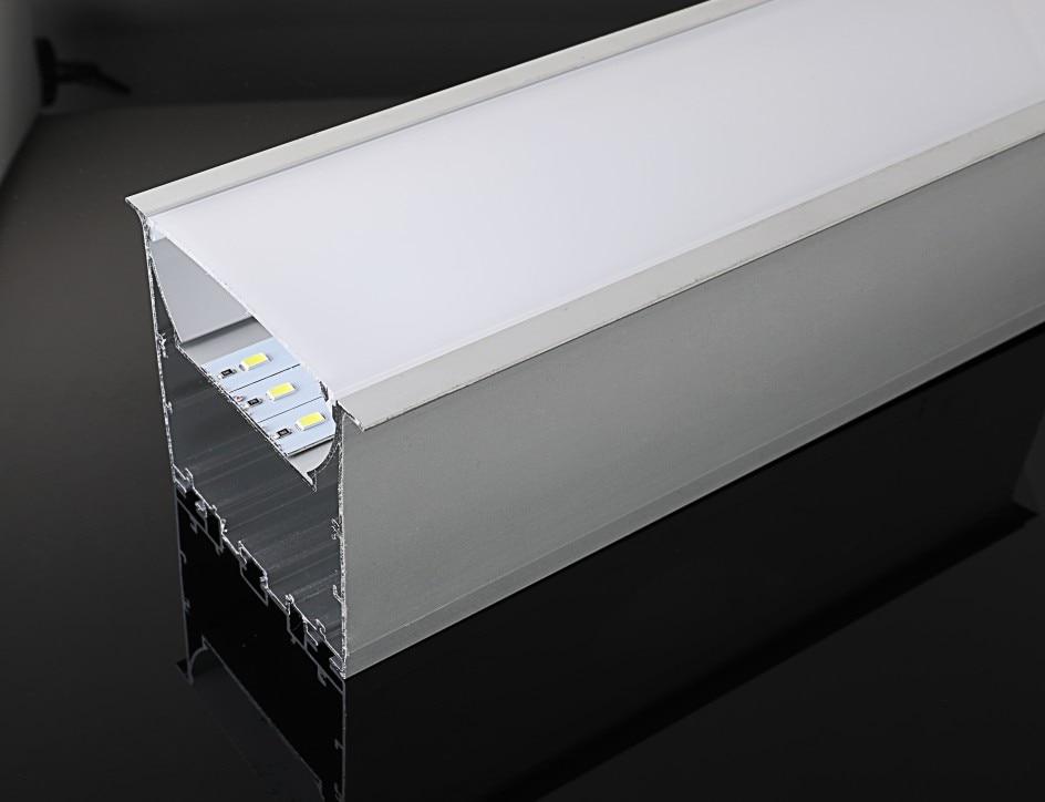 free shipping big size 87*76 mm Led liner pendant light aluminium profile for led light 2m/pcs  30m/lot