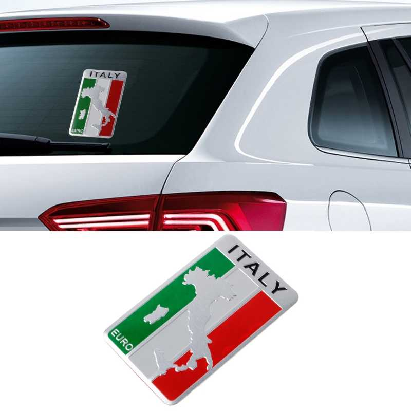 Detail Feedback Questions About Aluminum Italian Flag Map Car