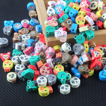 Новинка 100 шт разные цвета различные животные Полимерная глина Fimo бусины для DIY ожерелье браслет серьги ювелирных изделий Изготовление