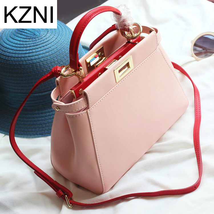 KZNI genuine leather crossbody bags for women retro crossbody bags for women bolsas femininas bolsas de marcas famosas L011306
