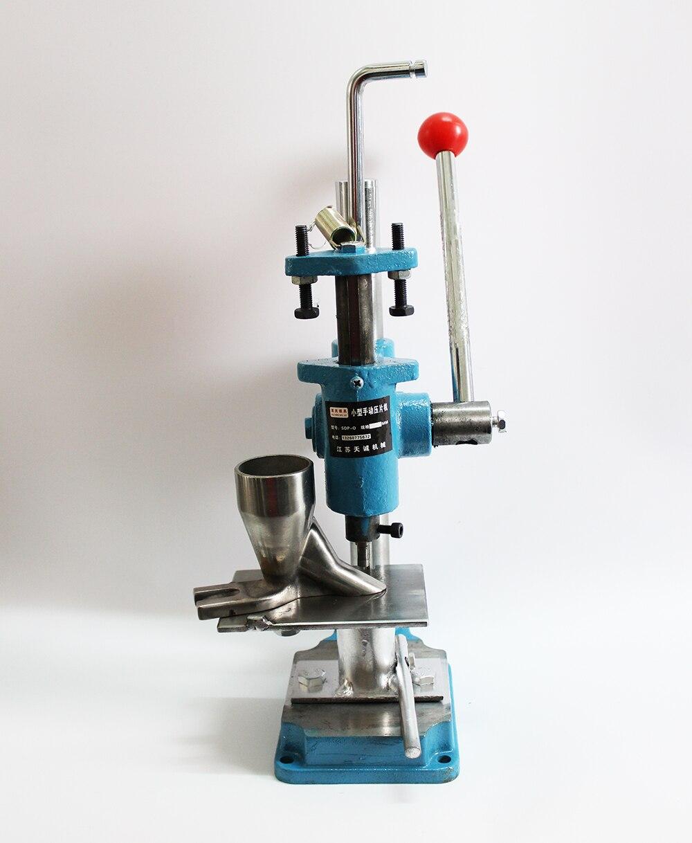 SDP-0 Poussoir À Main De Type machine de presse à comprimés à poinçon, poudres à base de plantes comprimés machine pilule machine d'estampage 6/8/10mm choisir un