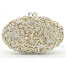 Women gold Evening Clutch Bag Wedding Party champagne Minaudiere Handbag Purse Hardware Metal Clutches Bag for lady cocktail bag xiyuan brand pineapple shape red yellow crystal women evening purse metal clutch bag wedding dinner minaudiere handbag wallet