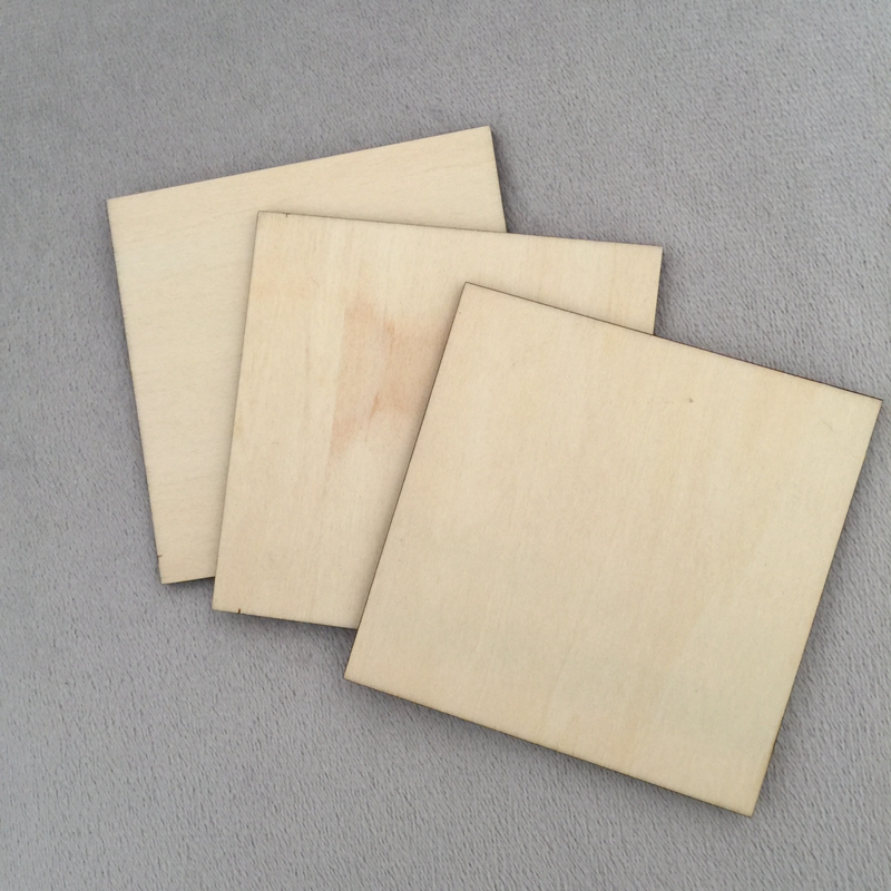 Wooden Square Shape Coasters Plain Wood Craft Blanks 10cm (100mm) Blank Squares