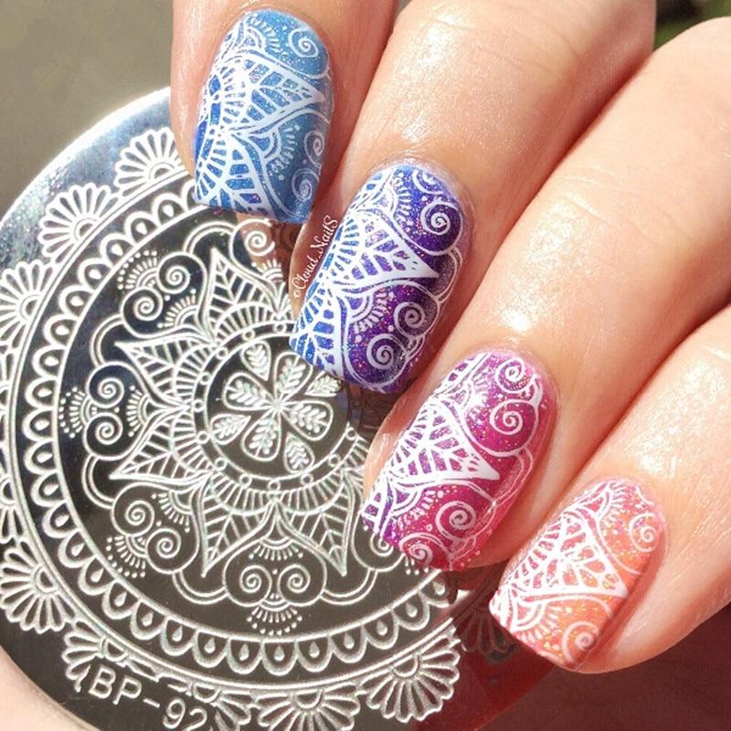 Geometric Reverse Stamping Nail Art Born Pretty Review: BORN PRETTY Nail Art Stamp Template Arabesque Geometry