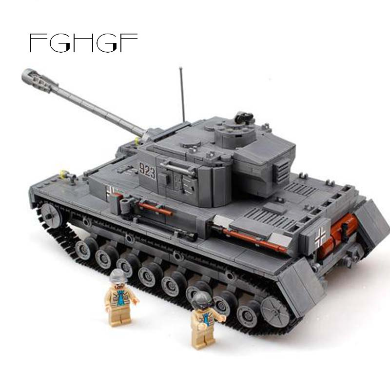 Military 923 PZKPFW-IV War Tank Model With Germany Soldiers Building Blocks Sets Compatible Legoed Army ww2 Toys For ChildrenMilitary 923 PZKPFW-IV War Tank Model With Germany Soldiers Building Blocks Sets Compatible Legoed Army ww2 Toys For Children