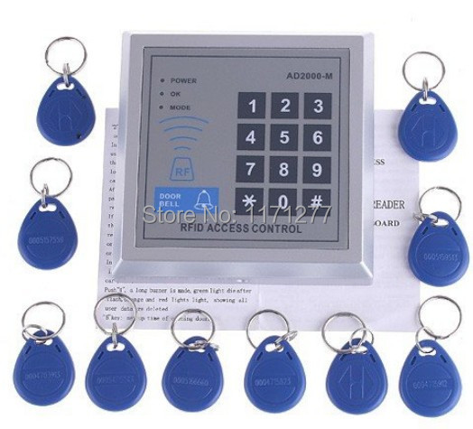 RFID card door access control system with 10pcs RFID key for apartment and office diysecur 50pcs lot 125khz rfid card key fobs door key for access control system rfid reader use red