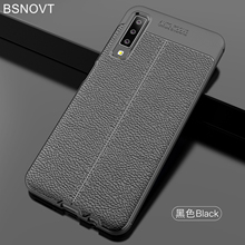 For Samsung Galaxy A7 2018 Case Soft Silicone Leather Cover A750 Funda