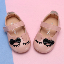 COZULMA Baby Girls Princess Bow Shoes Toddler Party Anti-slip Rabbit Ear Casual Shoes Baby Shoes Enfants Size 15-25