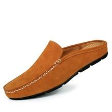 2017 мужские мокасины замшевые натуральная кожа росы каблук Повседневная обувь мужские мокасины драйвер Лоферы без застежки оксфорды Мужская обувь BR7681