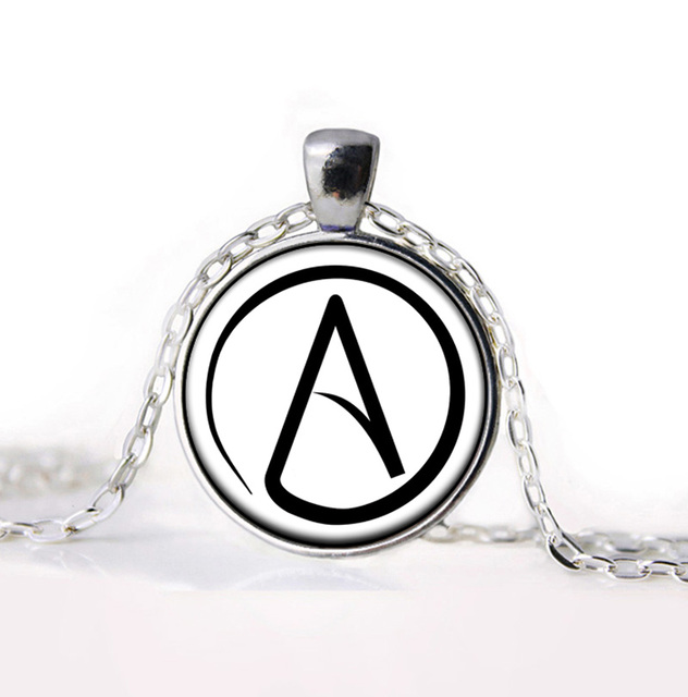 2016 New Arrived Atheist Atheism Symbol Silver Pewter Necklace