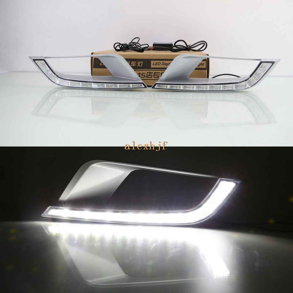 July King LED Daytime Running Lights DRL Case for Ford Ranger Wildtrak 2015~ON , LED Front Bumper Fog Lamp july king led daytime running lights drl case for honda crv cr v 2015 2016 led front bumper drl 1 1 replacement
