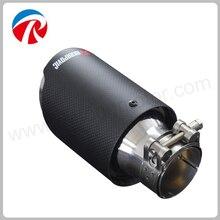 ID 51mm 54mm 57mm 60mm 63mm OD 76mm 89mm 101mm 114mm de Aço Inoxidável Ponta De Escape Akrapovic Carro De Fibra De Carbono Silenciador tubos