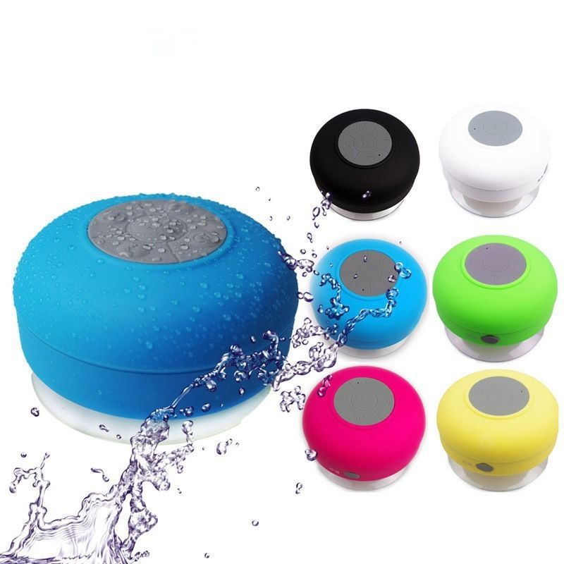 Waterproof Bluetooth Speaker Shower Mini Portable Wireless Stereo Speakers with Mic Suction Car Handsfree for SmartPhone iPhone