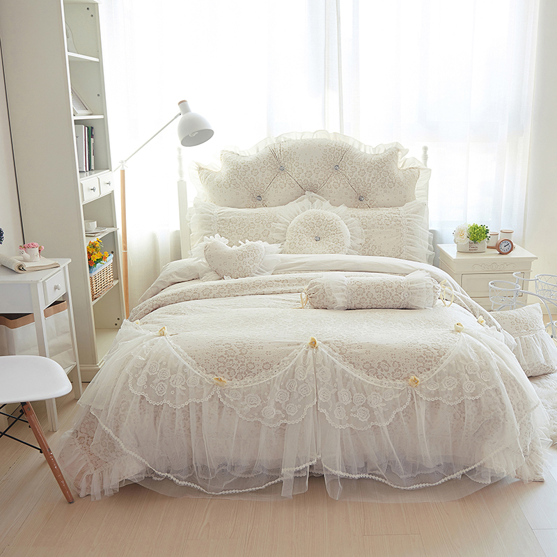 king size bed skirt luxury fleece lace winter bedding sets king 29403