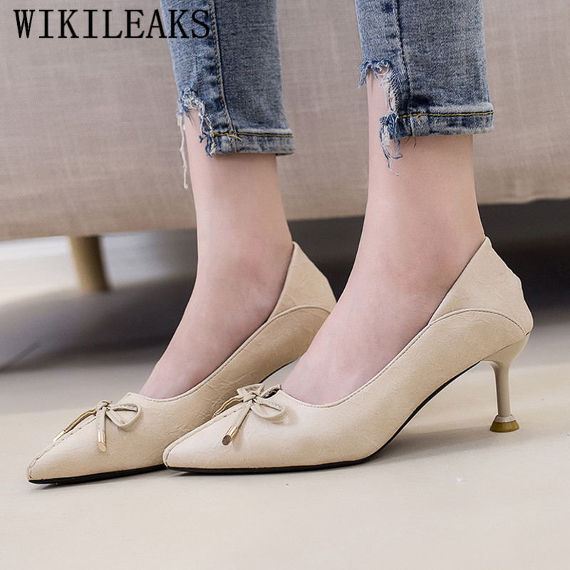 955c663e9a85 Aliexpress.com   Buy designer sexy high heels black pumps women shoes high  heel butterfly knot shoes woman pointed toe stiletto ladies wedding shoes  from ...