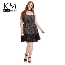 Kissmilk Plus Size Women Loose Floral Print Strap Slip Dress Vintage Backless Sleeveless High Waist Lace Mini Ball Gown Dress